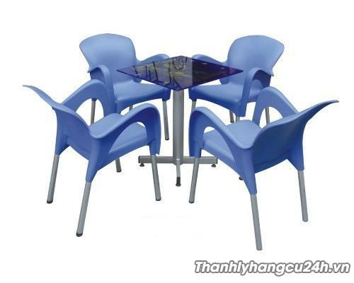 Thanh lý bàn ghế cafe xanh dương - Thanh lý bàn ghế cafe xanh dương