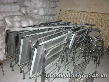 Thanh lý bàn ghế inox cũ - Thanh lý bàn ghế inox cũ