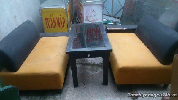 Thanh lý sofa bàn ghế cam đen