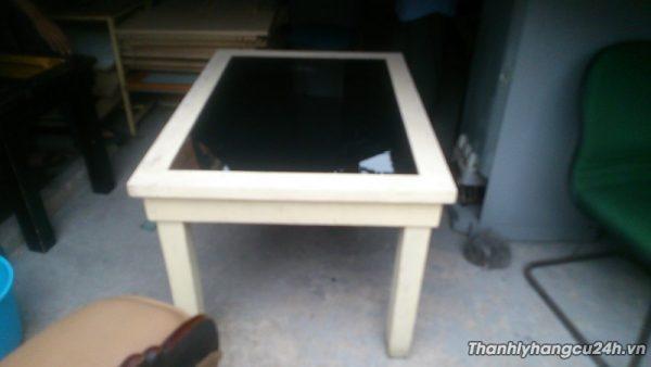 Thanh lý bàn gỗ mặt kính - Thanh lý bàn gỗ mặt kính