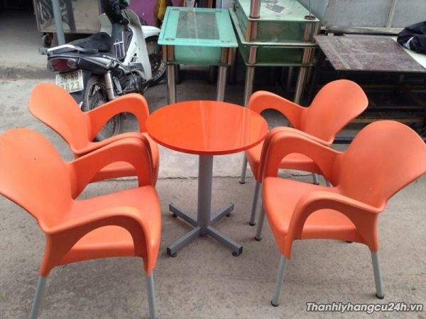 thanh lý bộ bàn ghế cafe cam - thanh lý bộ bàn ghế cafe cam