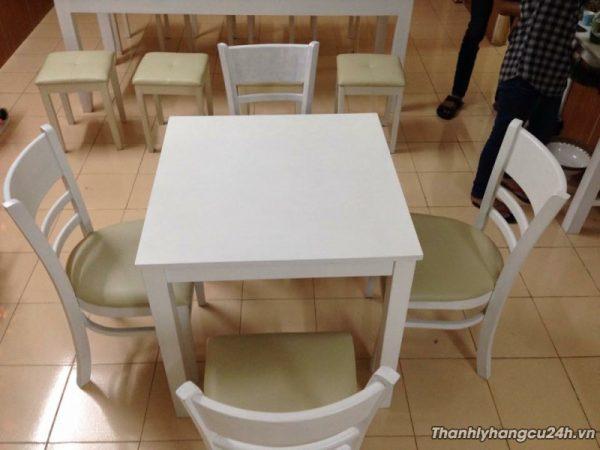 Bộ bàn 4 ghề dựa màu trắng - Bộ bàn 4 ghề dựa màu trắng