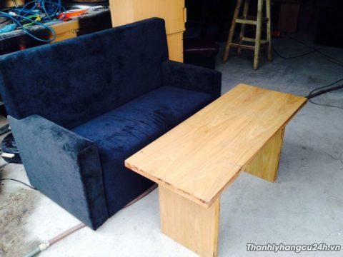 thanh lý bộ ghế sofa 1 bàn 1 ghế