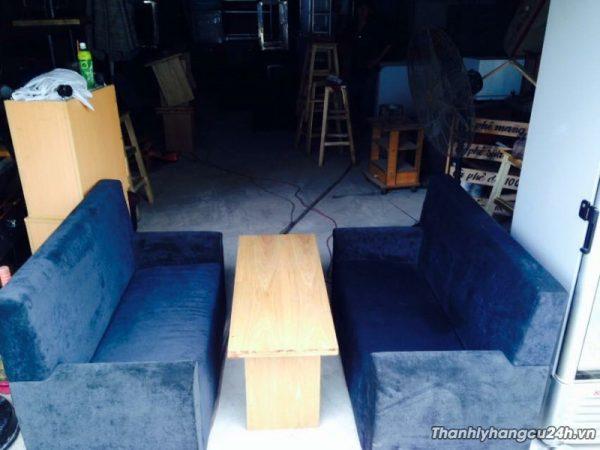 thanh lý bộ sofa nhung tím - thanh lý bộ sofa nhung tím