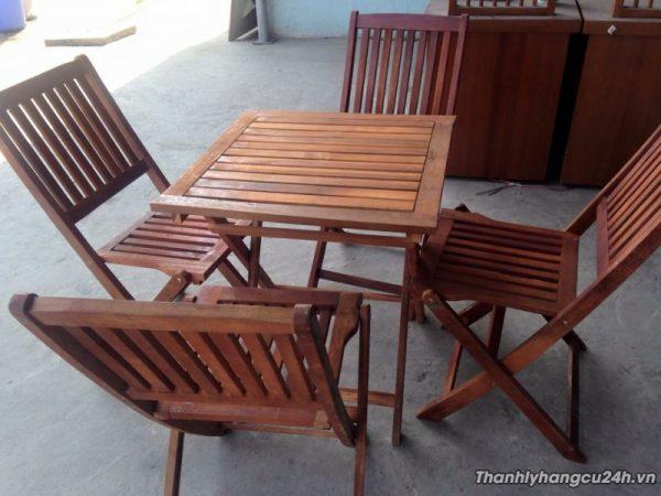 Thanh lý bàn ghế cafe gỗ xếp - Thanh lý bàn ghế cafe gỗ xếp