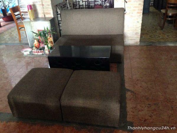 Thanh lý bàn ghế sofa vải