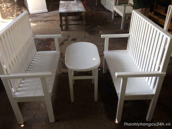 Thanh bộ bàn ghế trắng 0508