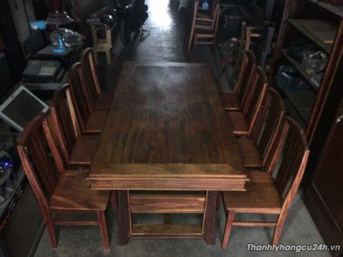 Thanh lý bộ bàn ăn gõ đỏ 8 ghế - Thanh lý bộ bàn ăn gõ đỏ 8 ghế