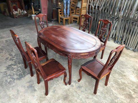 Bàn ăn 6 ghế gỗ cẩm lai