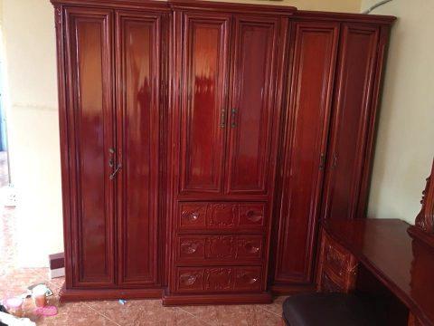 Tủ quần áo gỗ gõ đỏ