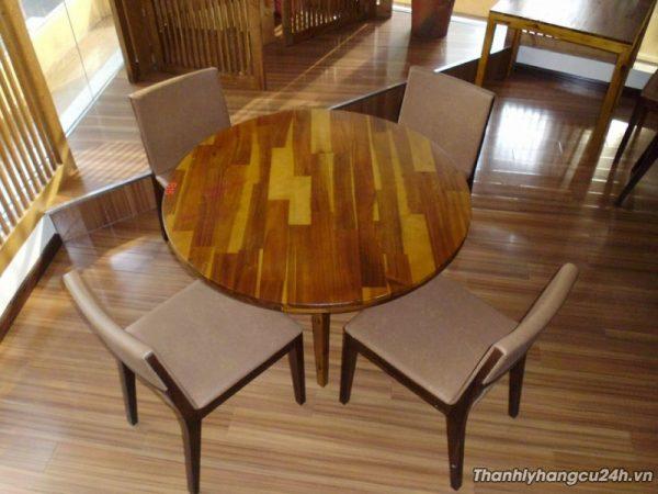 Thanh lý bàn ghế gỗ tròn nhà hàng - Thanh lý bàn ghế gỗ tròn nhà hàng