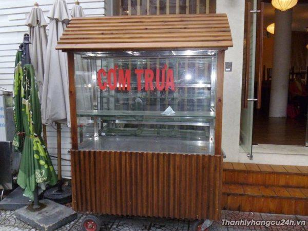 Thanh lý xe cơm nhà hàng ion 304 bọc gỗ