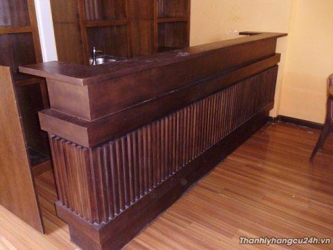 quầy bar pha chế gỗ