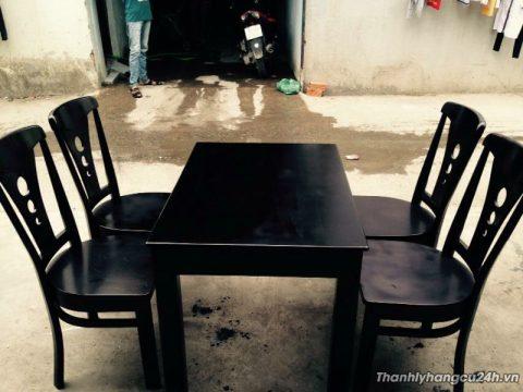 Thanh lý bàn ghế gỗ nhà hàng mới 90% - Thanh lý bàn ghế gỗ nhà hàng mới 90%