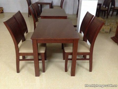Mua bán bàn ghế nệm gỗ nhà hàng