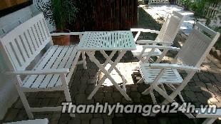 Thanh lý bàn ghế cafe trắng - Thanh lý bàn ghế cafe trắng