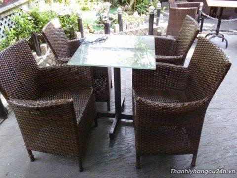 Bàn ghế cafe giả mây thanh lý - Bàn ghế cafe giả mây thanh lý