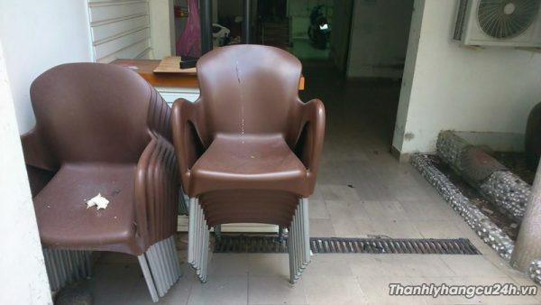 Thanh lý ghế cafe nhựa đúc nâu - Thanh lý ghế cafe nhựa đúc nâu