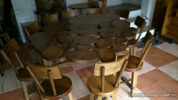 Thanh lý bàn ghế cafe kiểu mặt gỗ - Thanh lý bàn ghế cafe kiểu mặt gỗ