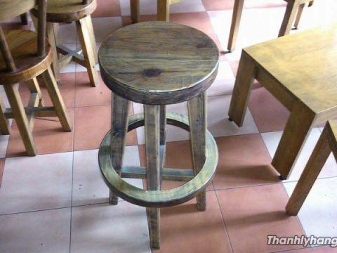 Thanh lý ghế bar đôn gỗ thông Mỹ