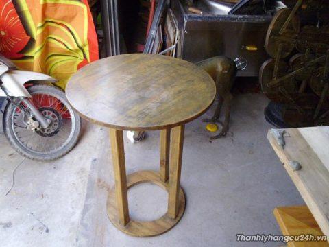 Thanh lý bàn gỗ tròn cafe - Thanh lý bàn gỗ tròn cafe