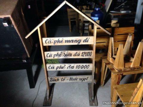 menu gỗ quán cafe