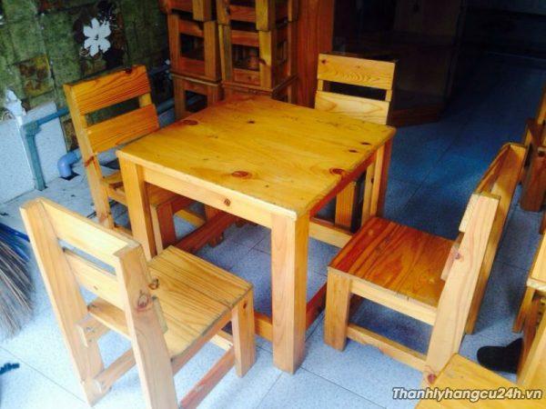 Thanh lý bàn ghế cafe gỗ cũ - Thanh lý bàn ghế cafe gỗ cũ
