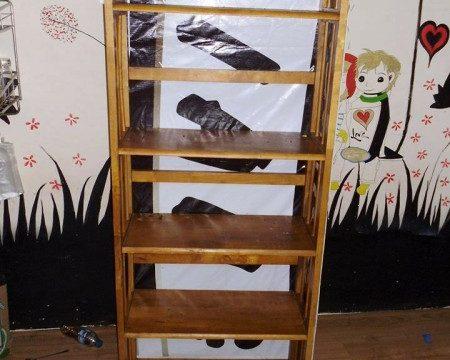 Thanh lý kệ dép gỗ 5 ngăn