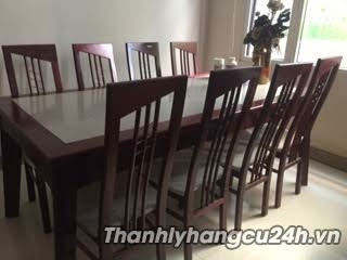 Thanh lý bộ bàn ăn gỗ 8 ghế - Thanh lý bộ bàn ăn gỗ 8 ghế