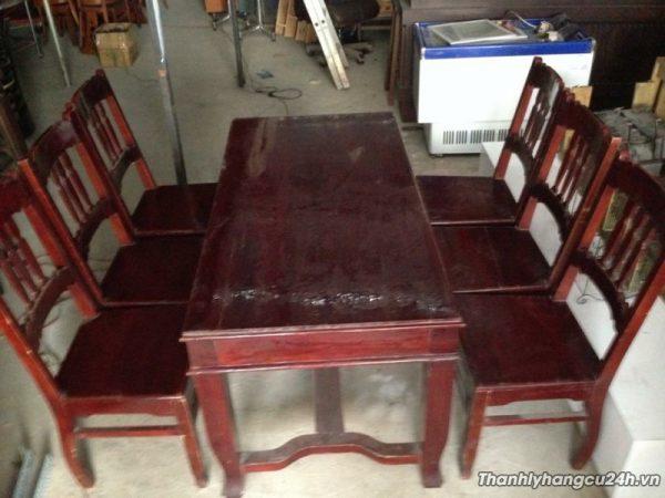 Thanh lý Bộ bàn ăn 6 ghế gỗ thanh lý