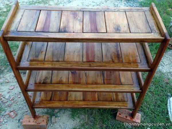 Thanh lý kệ dép gỗ 4 ngăn - Thanh lý kệ dép gỗ 4 ngăn