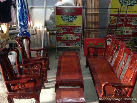 bộ bàn ghế gỗ căm xe