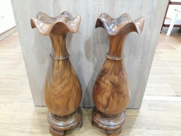 Thanh lý cặp lộc bình gỗ lim - Thanh lý cặp lộc bình gỗ lim