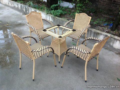 Mua bán bàn ghế cafe giả mây - Mua bán bàn ghế cafe giả mây