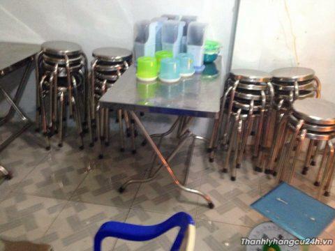 Thanh lý bàn ghế inox tại TPHCM