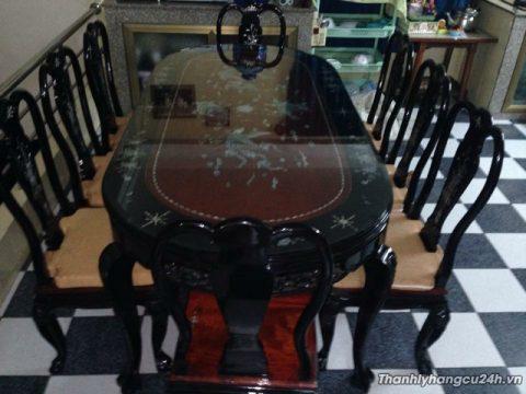 Thanh lý bộ bàn ăn cẩn trai