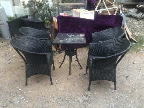 Bộ bàn ghế mây cafe
