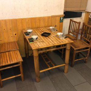 bàn ghế tre nhà hàng thanh lý