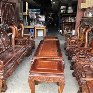 Bàn ghế gỗ phòng khách thanh lý
