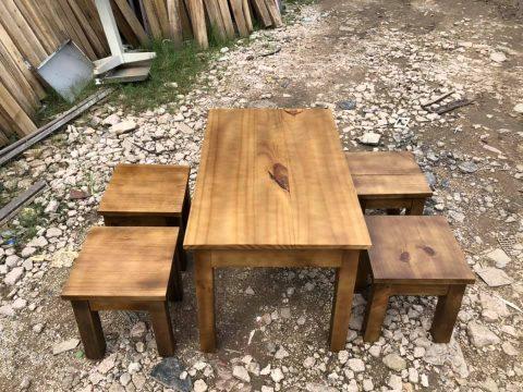 thanh lý bàn ghế cafe gỗ thông