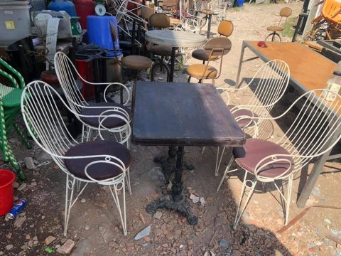 thanh lý bàn ghế cafe ngoài trời sắt