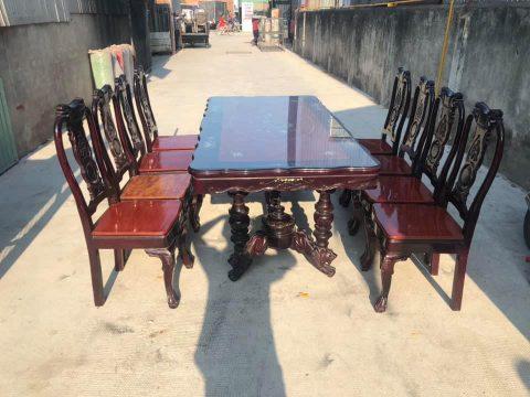 Thanh lý bàn ăn 8 ghế gỗ