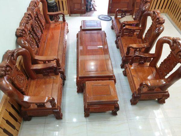 bàn ghế gỗ hương tay 14