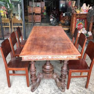 thanh lý bàn ăn 6 ghế cũ xưa