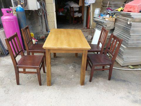 thanh lý bàn ăn 4 ghế gỗ