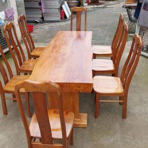 thanh lý bàn ăn gỗ tự nhiên